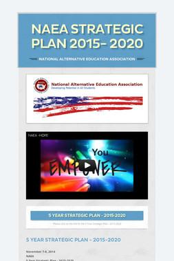 NAEA Strategic Plan 2015- 2020
