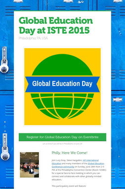 Global Education Day at ISTE 2015