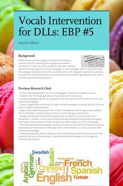 Vocab Intervention for DLLs: EBP #5