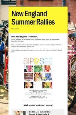New England Summer Rallies