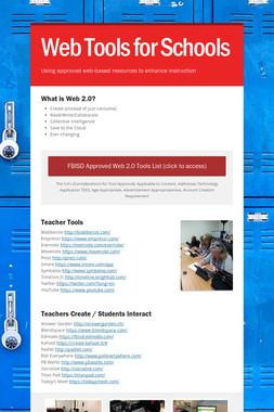 Web Tools for Schools