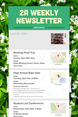 2A Weekly Newsletter