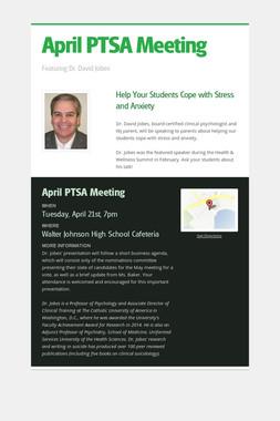 April PTSA Meeting