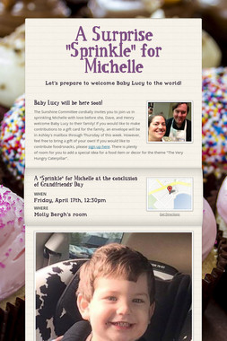 """A Surprise """"Sprinkle"""" for Michelle"""