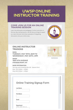 UWSP Online Instructor Training