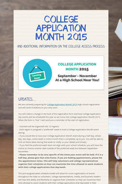 COLLEGE APPLICATION MONTH 2015