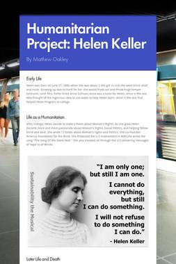 Humanitarian Project: Helen Keller