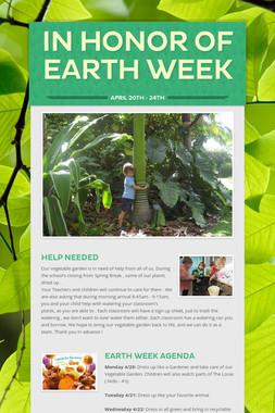 In Honor of Earth Week