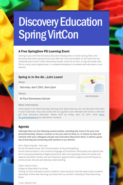 Discovery Education Spring VirtCon