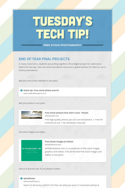 Tuesday's Tech Tip!