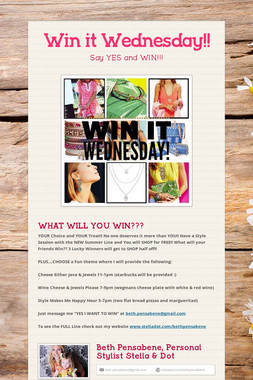 Win it Wednesday!!