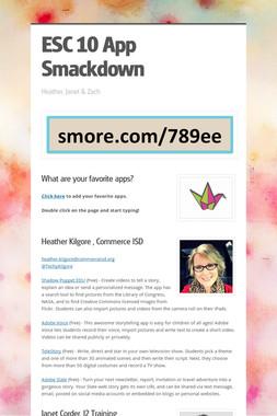 ESC 10 App Smackdown