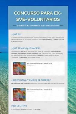 Concurso para Ex-SVE-Voluntarios