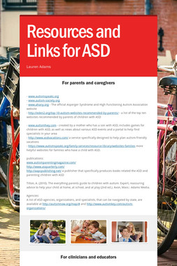 Resources and Links for ASD