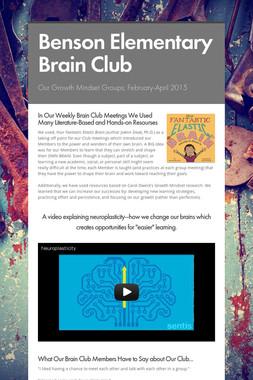 Benson Elementary Brain Club