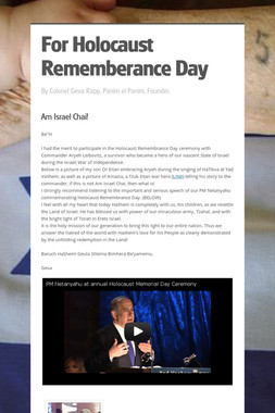 For Holocaust Rememberance Day