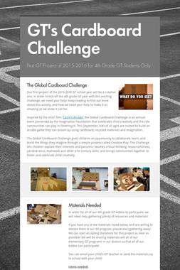 GT's Cardboard Challenge