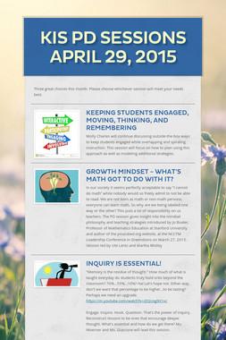 KIS PD Sessions April 29, 2015