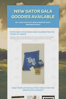 NEW Gator Gala Goodies Available