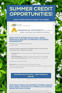 Summer Credit Opportunities!