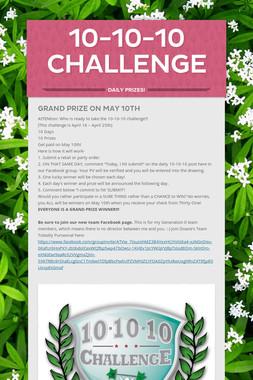 10-10-10 Challenge