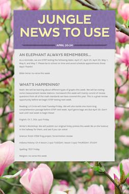 Jungle News to Use