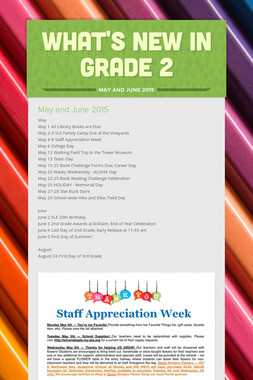 What's New in Grade 2