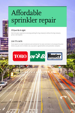 Affordable sprinkler repair