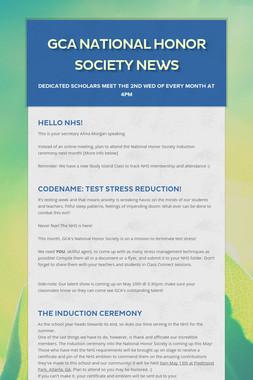 GCA National Honor Society News