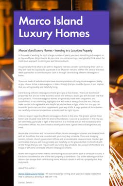 Marco Island Luxury Homes