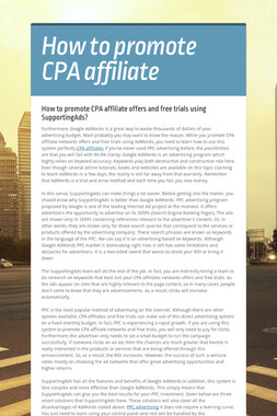 How to promote CPA affiliate