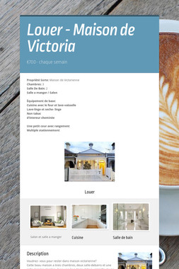 Louer - Maison de Victoria
