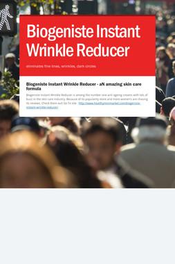 Biogeniste Instant Wrinkle Reducer