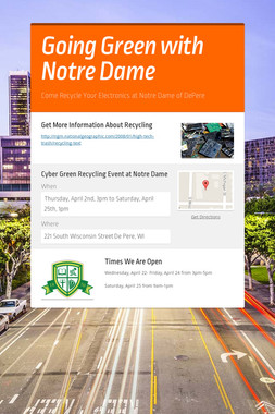 Going Green with Notre Dame