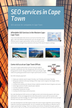 SEO services in Cape Town