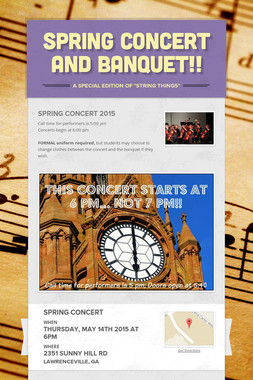 Spring Concert and Banquet!!
