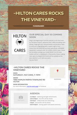 ~Hilton Cares Rocks The Vineyard~