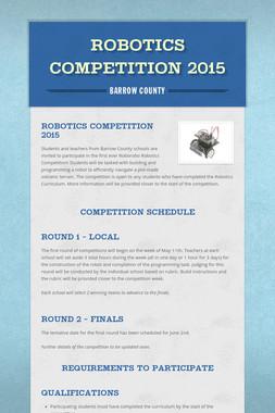 ROBOTICS COMPETITION 2015