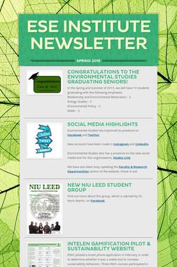 ESE Institute Newsletter