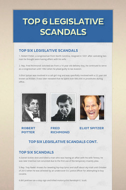 Top 6 Legislative Scandals