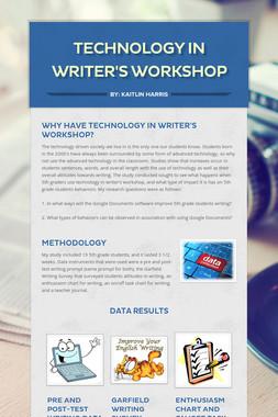 Technology in  Writer's Workshop