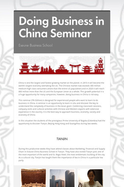 Doing Business in China Seminar