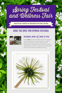 Spring Festival and Wellness Fair
