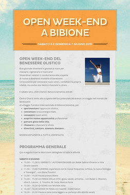 OPEN WEEK-END A BIBIONE