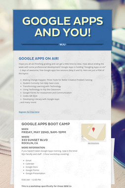 Google Apps and You!