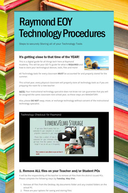 Raymond EOY Technology Procedures