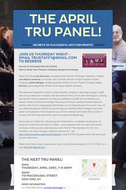 The April TRU Panel!
