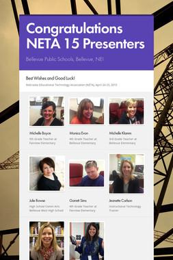 Congratulations NETA 15 Presenters