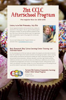 21st CCLC Afterschool Program