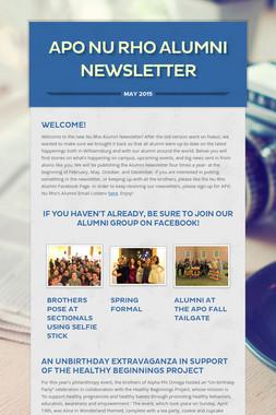APO Nu Rho Alumni Newsletter